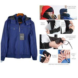 Baubax Women's Blue Bomber Travel Jacket Size L